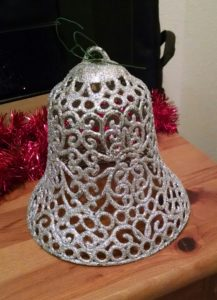 Silver bell tree decoration